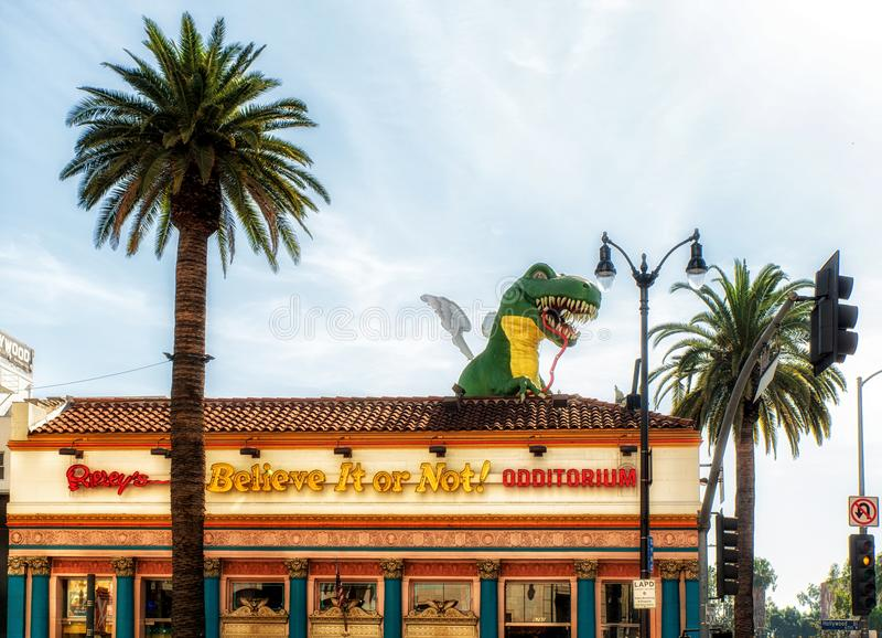 Ripley ` s相信它!在好莱坞大道, L的Odditorium 图库摄影