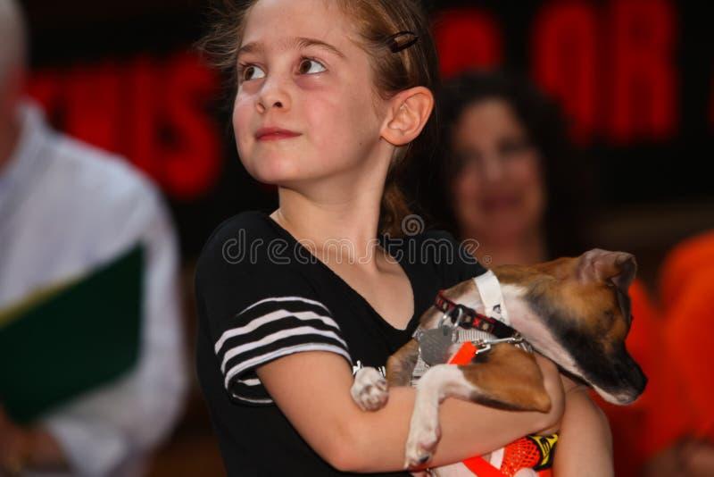 Ripley Sobo com filhote de cachorro adoptável fotografia de stock