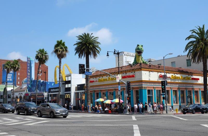 Ripleys gelooft het of niet op Hollywood-Boulevard en Hooglandweg stock foto