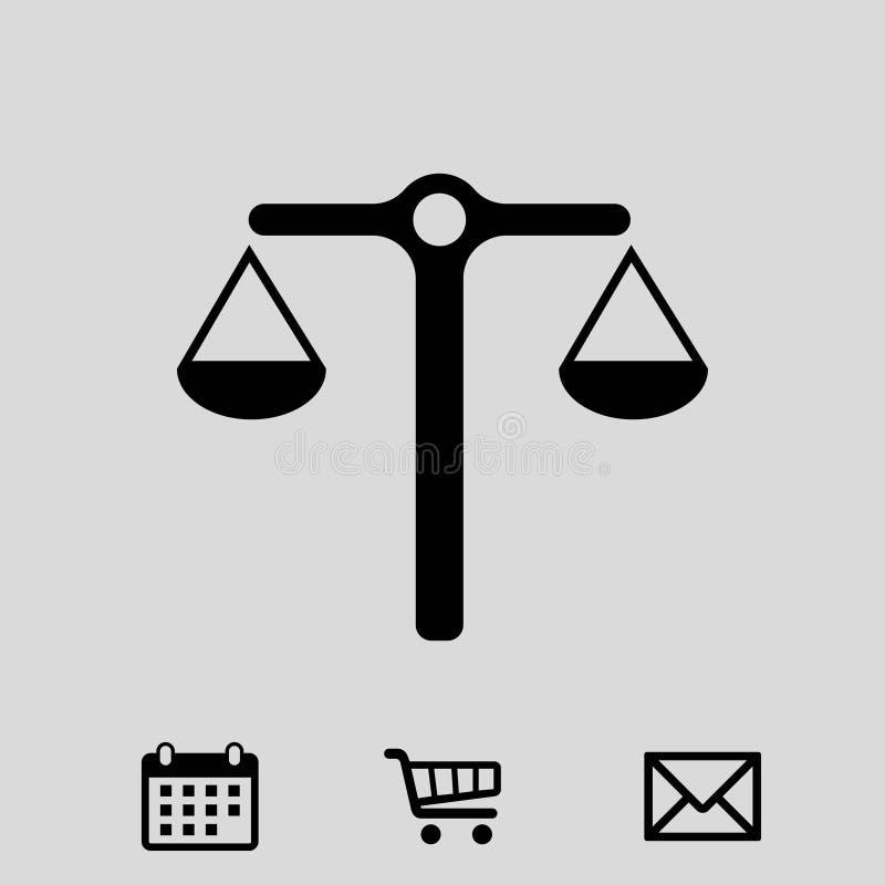 Riporta in scala la progettazione piana di vettore dell'icona dell'illustrazione delle azione dell'illustrazione di riserva di ve illustrazione di stock