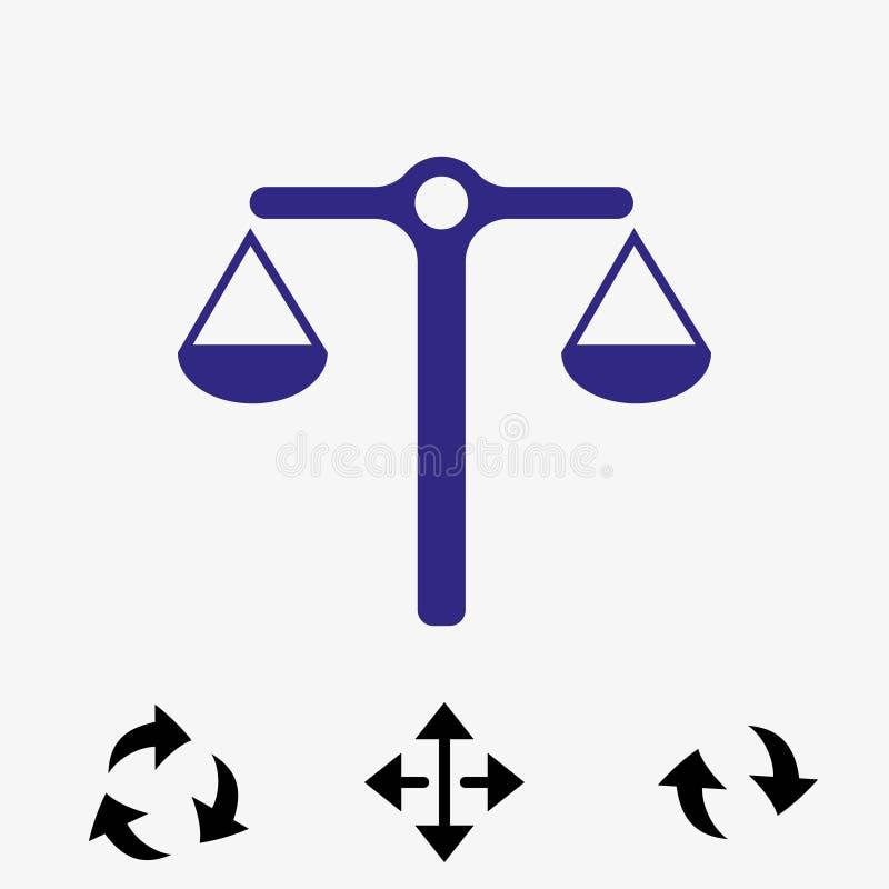 Riporta in scala la progettazione piana di vettore dell'icona dell'illustrazione delle azione dell'illustrazione di riserva di ve royalty illustrazione gratis