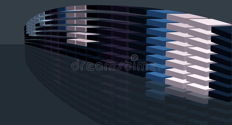 Riportare in scala figura digitale del ponticello illustrazione di stock
