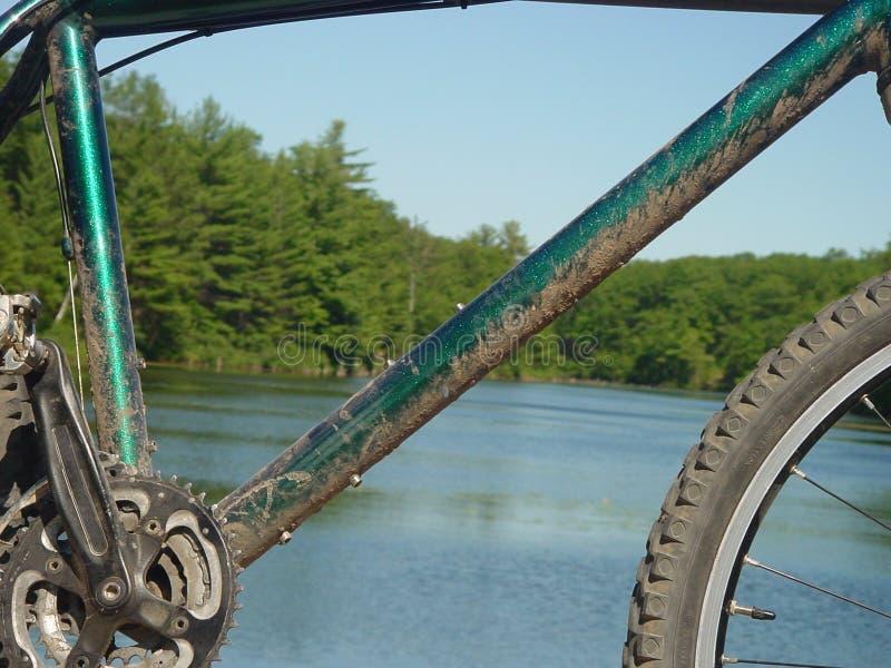 Riposando nel lago perso fotografie stock libere da diritti