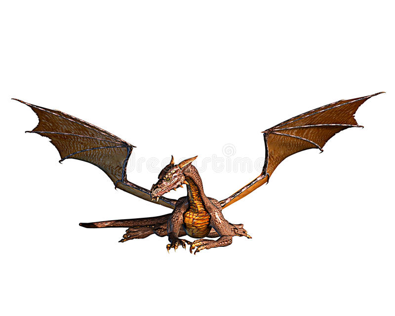 Riposo dorato del drago illustrazione vettoriale