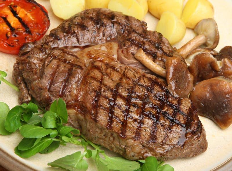 Rippe-Auge Steak-Abendessen stockfoto