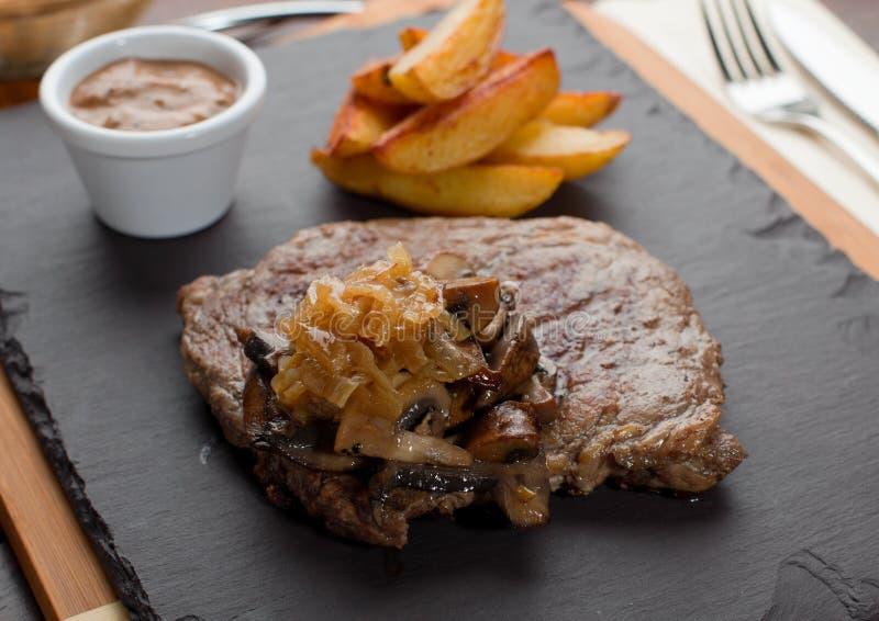 Rippe-Auge Steak, flacher DOF lizenzfreie stockbilder