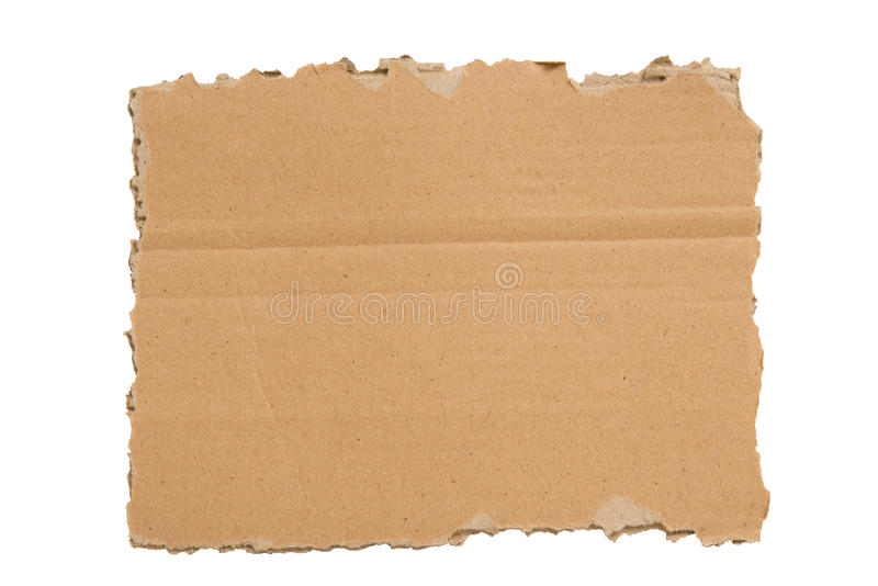 Download A Ripped Blank Piece Of Cardboard XXXL Isolated Stock Image - Image: 28289331