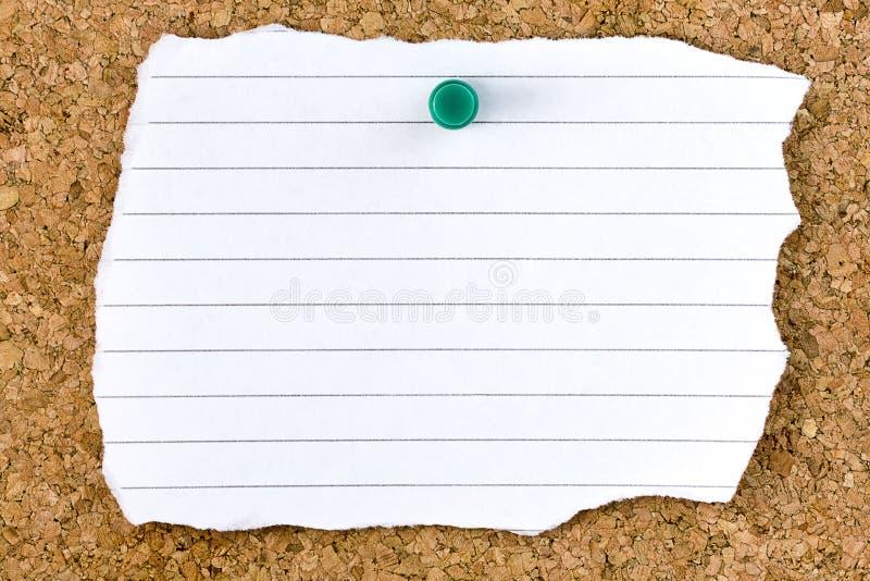 Download Ripped Blank White Striped Sheet Cork Board Pushpin Stock Photo - Image: 40408552