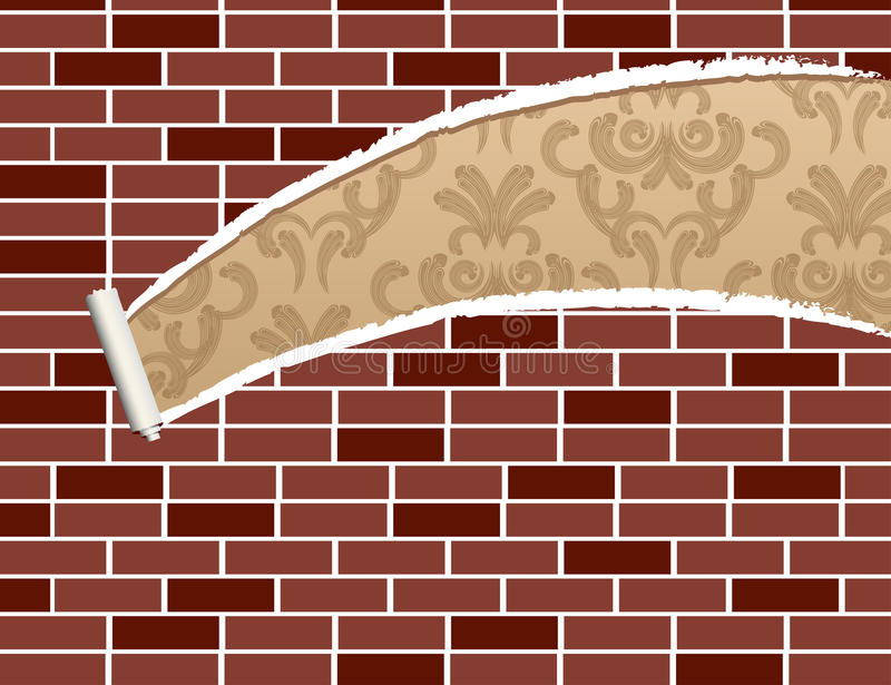 Download Ripped brick wall stock vector. Illustration of page - 18427372