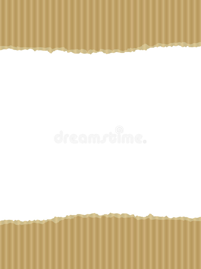 Ripped cardboard illustration with copy space vector illustration
