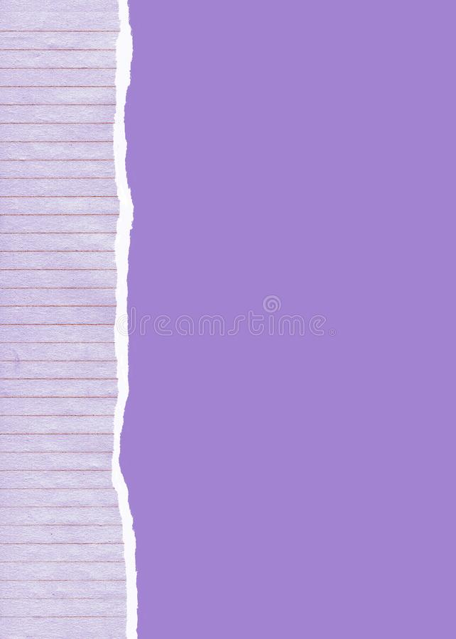 Ripped lined paper background stock photos