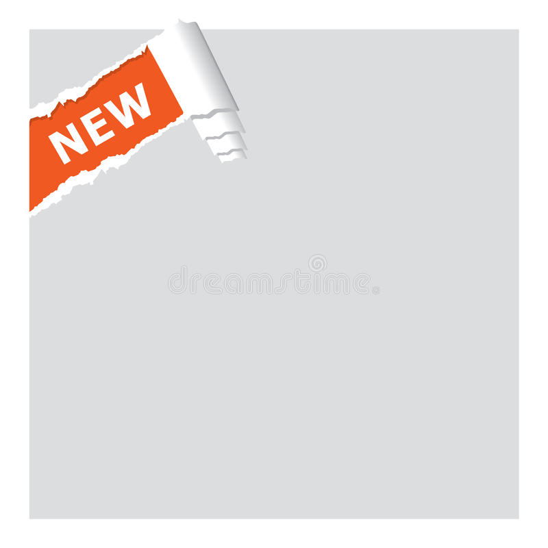 Download Ripped new sign. stock vector. Image of background, plan - 9473237
