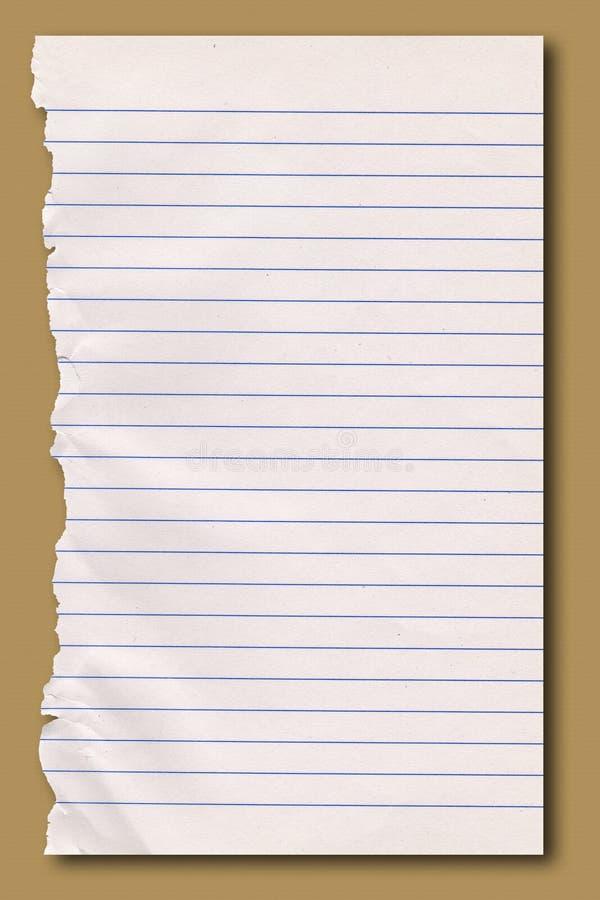 ripped notepaper opończy zdjęcie royalty free