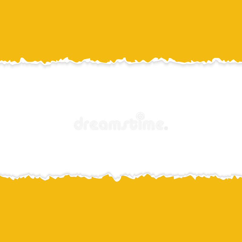 ripped open paper orange vector illustration