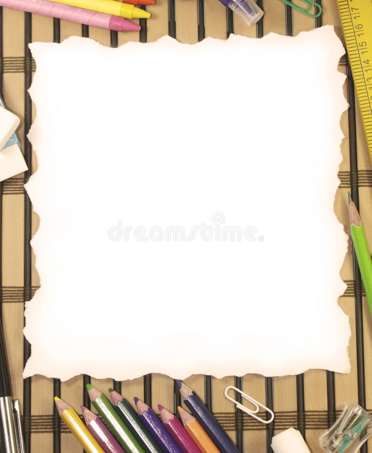 Ripped paper. Background with stationery royalty free stock photos