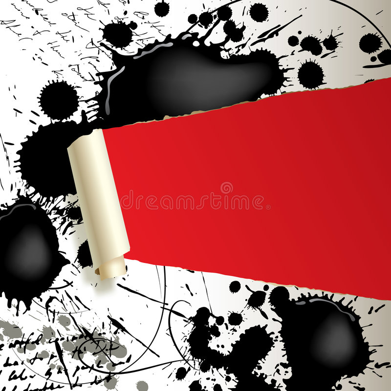 Download Ripped paper with blots stock vector. Image of spoil, background - 8396559