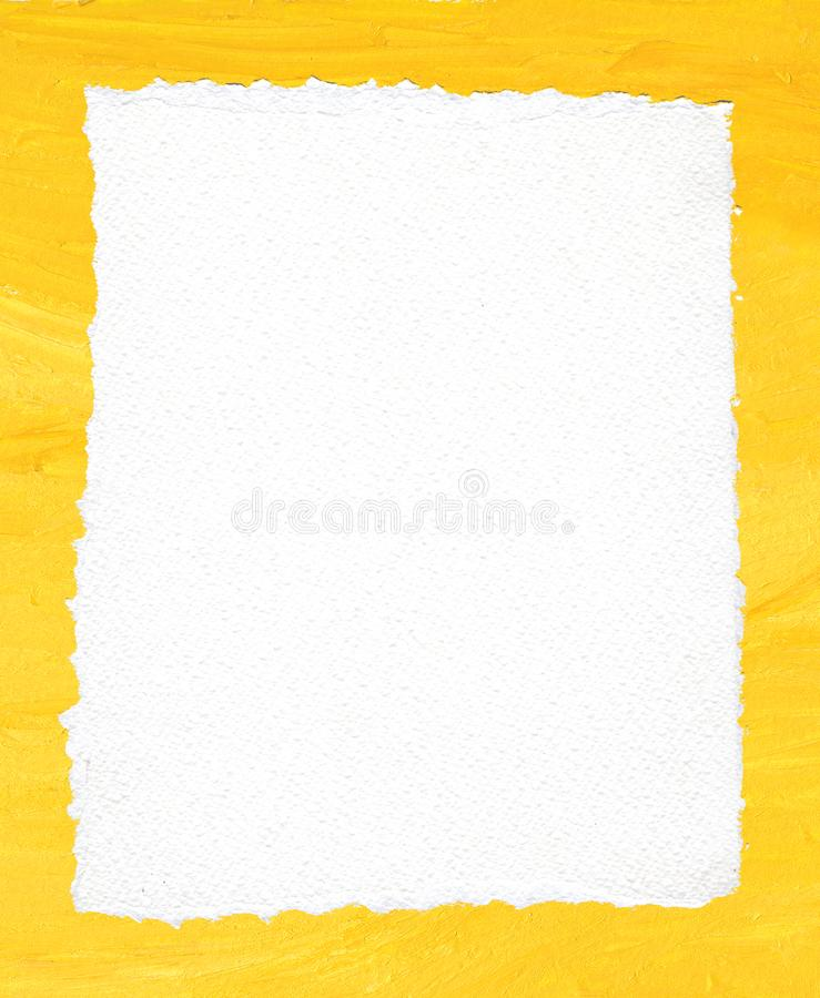 Free Ripped Paper Texture On Acrylic Yellow Background Stock Photography - 134707862