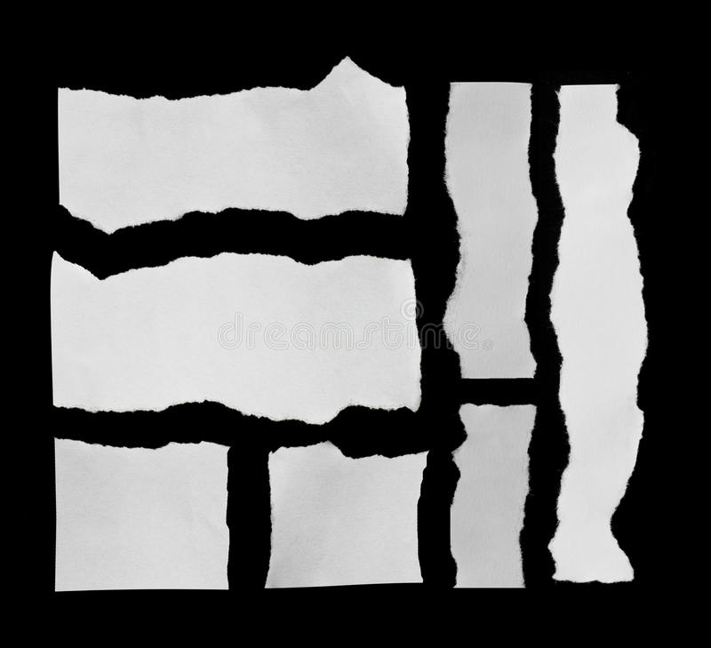 Ripped paper and Torn paper. Space for copy stock images