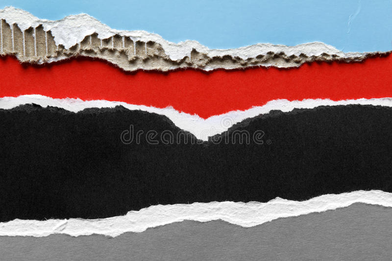 Ripped papers royalty free stock image