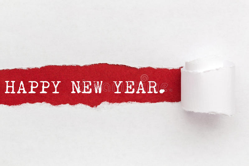 Ripped Papper - Happy New Year royalty free stock photography