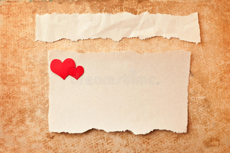 Download Ripped Pieces Of Paper On Grunge Background Stock Photos - Image: 18266663
