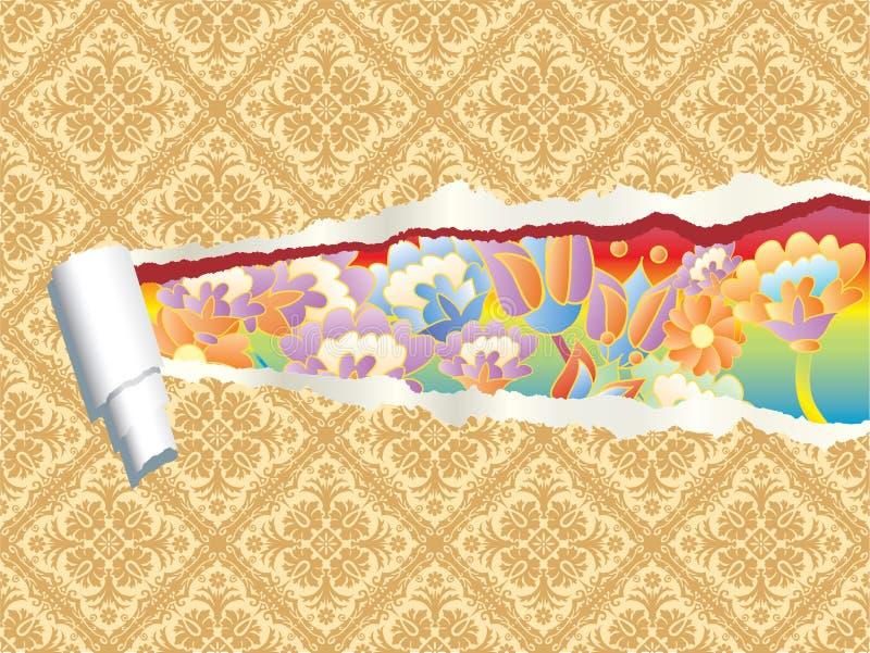 Ripped pop wallpaper vector illustration