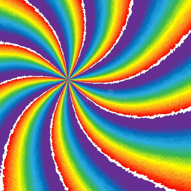 Ripped Rainbow Twister stock illustration