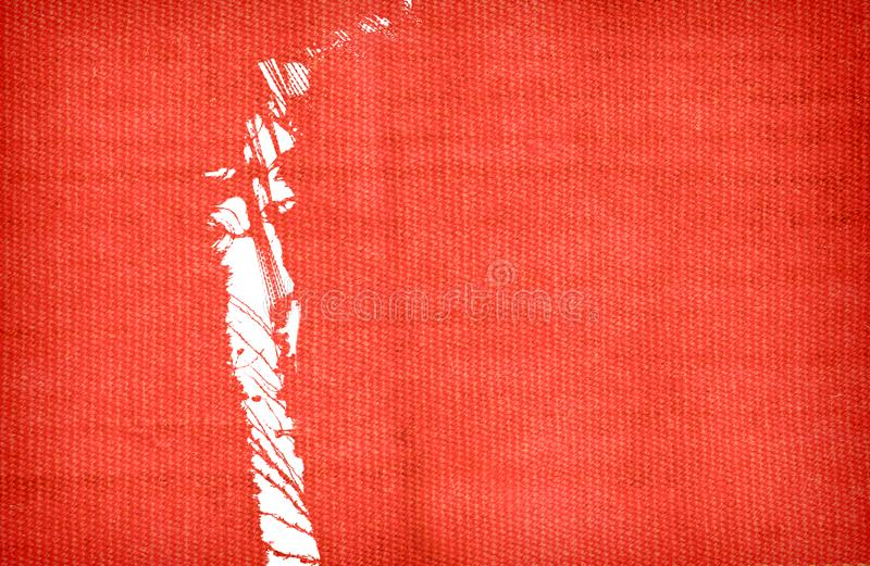 Ripped red wool cloth. Copy space royalty free stock photo