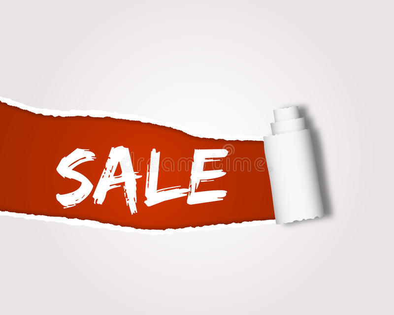 Download Ripped sale stock illustration. Image of badge, purchase - 25867237