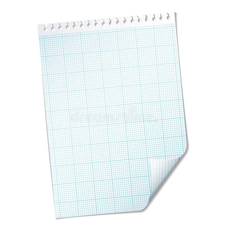 Ripped sheet grid stock illustration