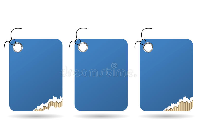 Ripped Tag Royalty Free Stock Images