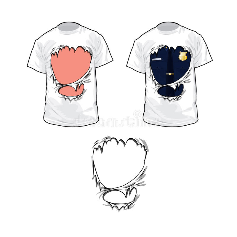 Ripped t-shirt vector illustration