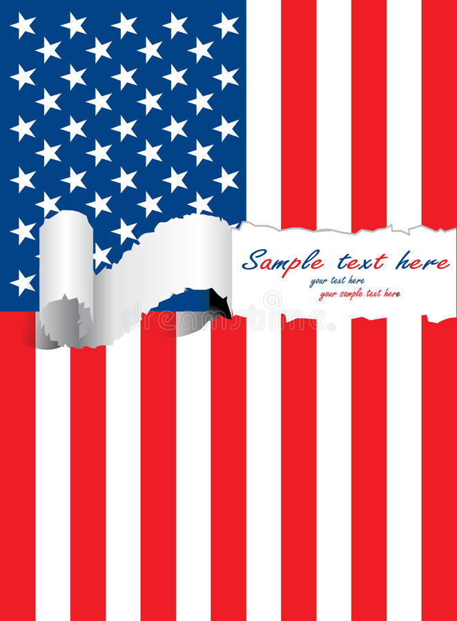 Ripped usa flag royalty free illustration