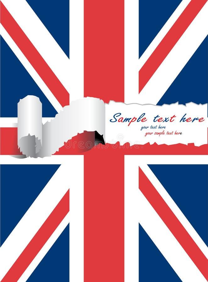 Ripped usa united kingdom flag stock illustration