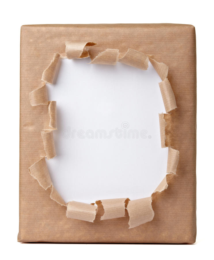 Ripped Wrapping Box Royalty Free Stock Photo