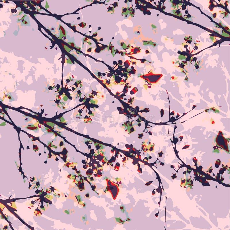 Rippenstückblumendruck stock abbildung