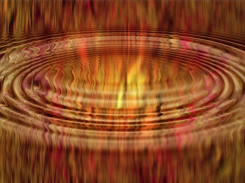 Download Ripple abstract flames stock illustration. Illustration of hellfire - 608523