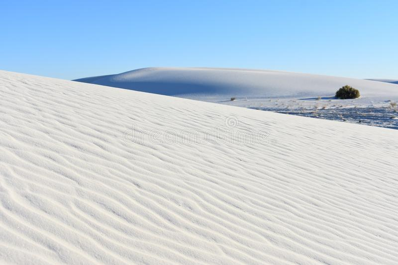 Ripple Marks in White Sand National Monument stock photos