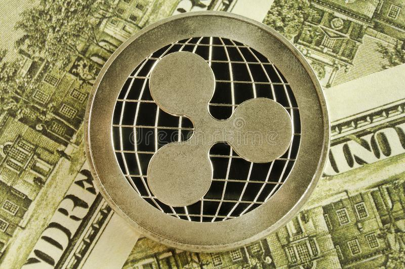 Ripple is a modern way of exchange and this crypto currency is a convenient means of payment in the financial stock photo