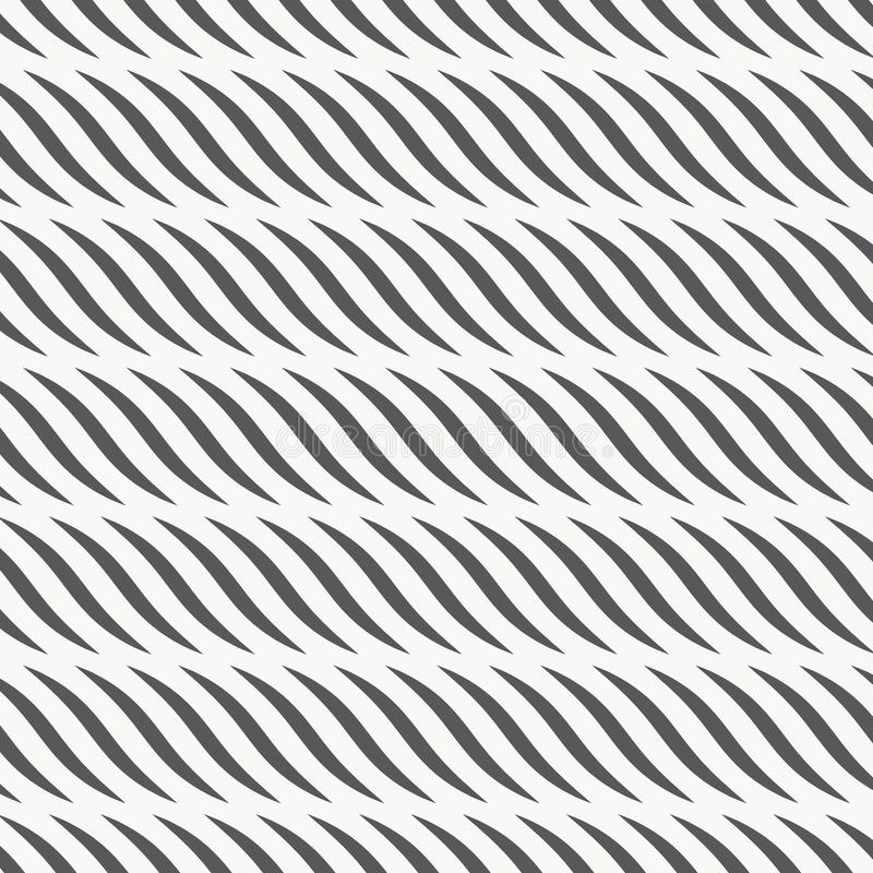 Ripple pattern. Repeating wavy graphic linear waves. Pattern is on swatches panel stock illustration