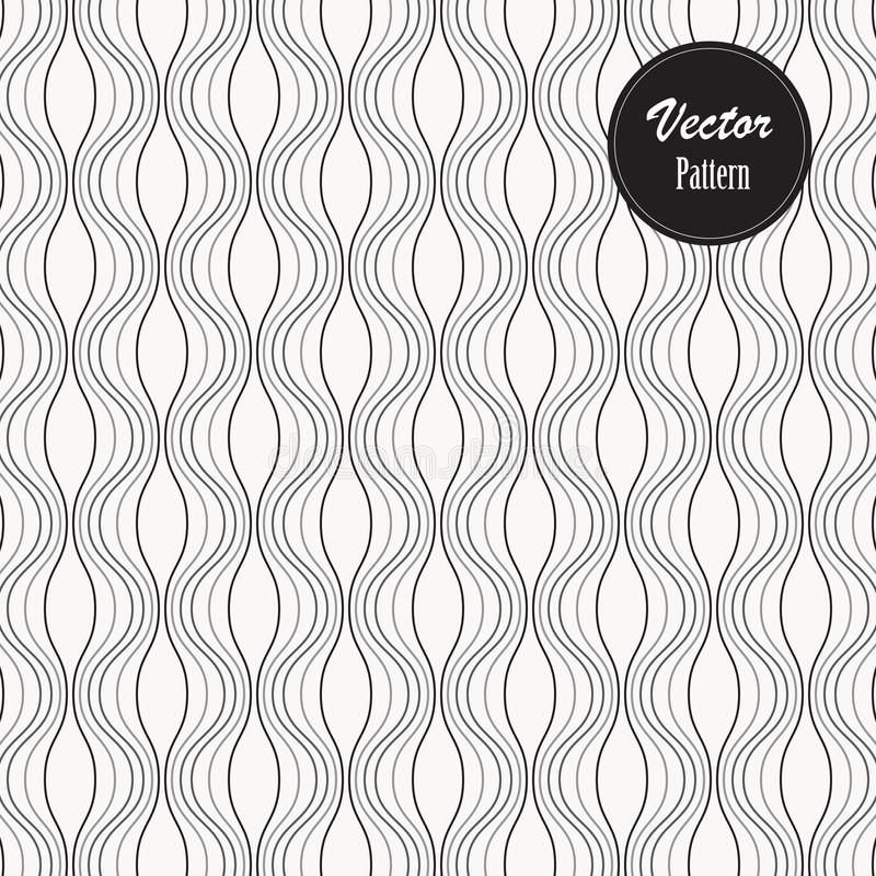 Ripple pattern. Wavy background. Simple linear waves. Pattern is on swatches panel vector illustration