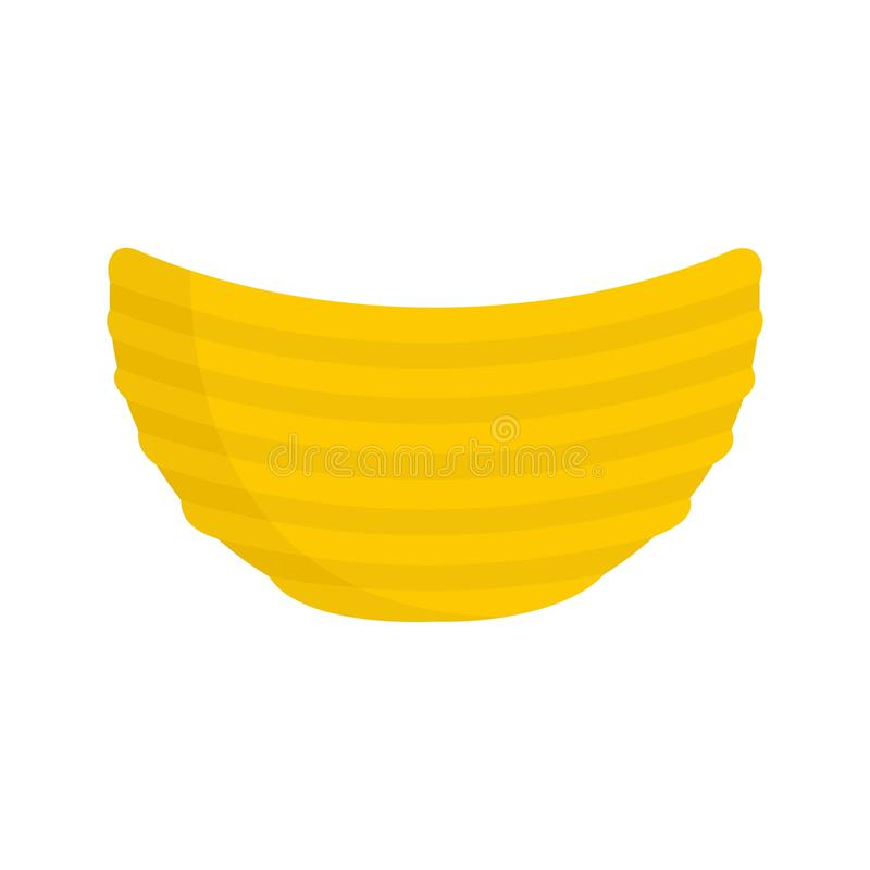Rippled cheese chips icon, flat style. Rippled cheese chips icon. Flat illustration of rippled cheese chips vector icon for web design vector illustration
