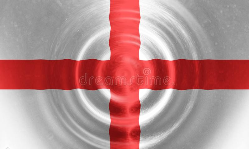 Rippled England flag in official white red  colors and proportion. 3D rendering stock photography