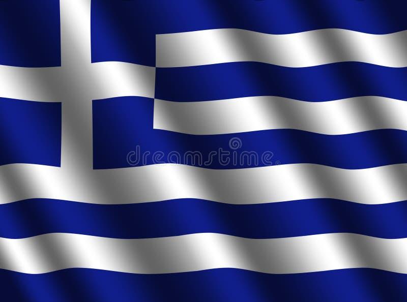 Rippled Greek flag background. Illustration royalty free illustration