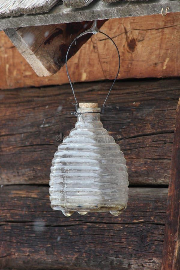 Rippled honey jar royalty free stock images