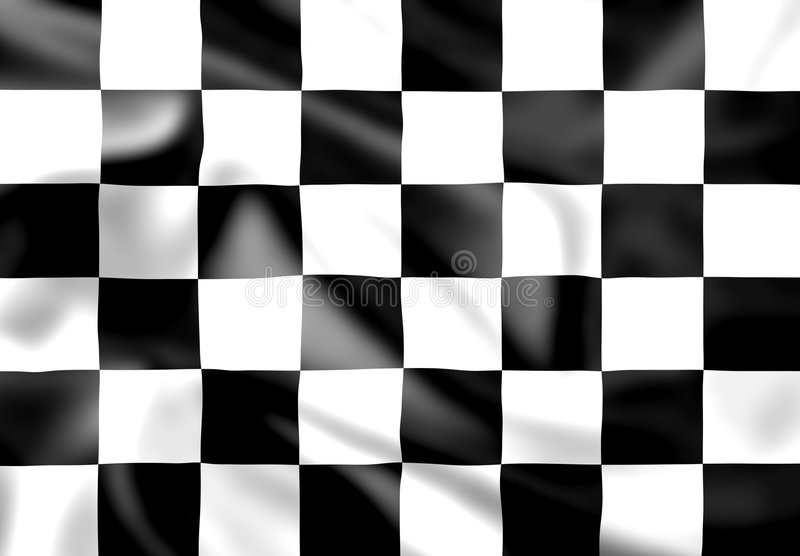 Download Rippled Silk Chequered Race Flag Stock Illustration - Image: 3655175