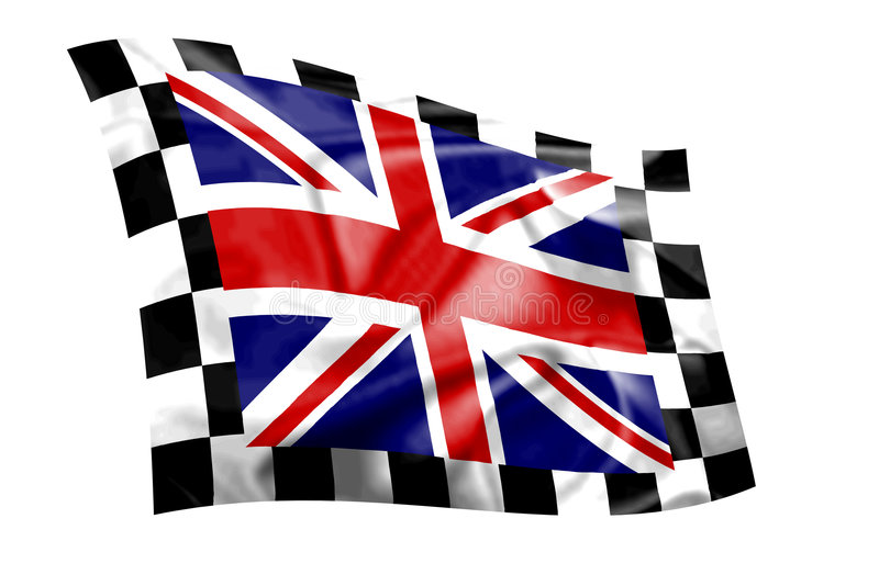Download Rippled Union Jack Flag With Chequered Border Stock Illustration - Image: 3788765