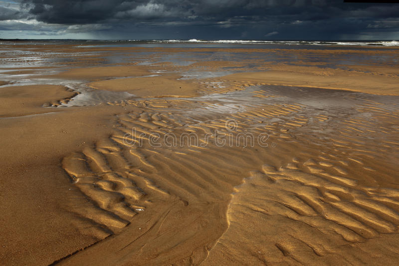 Ripples, Balmedie beach stock image