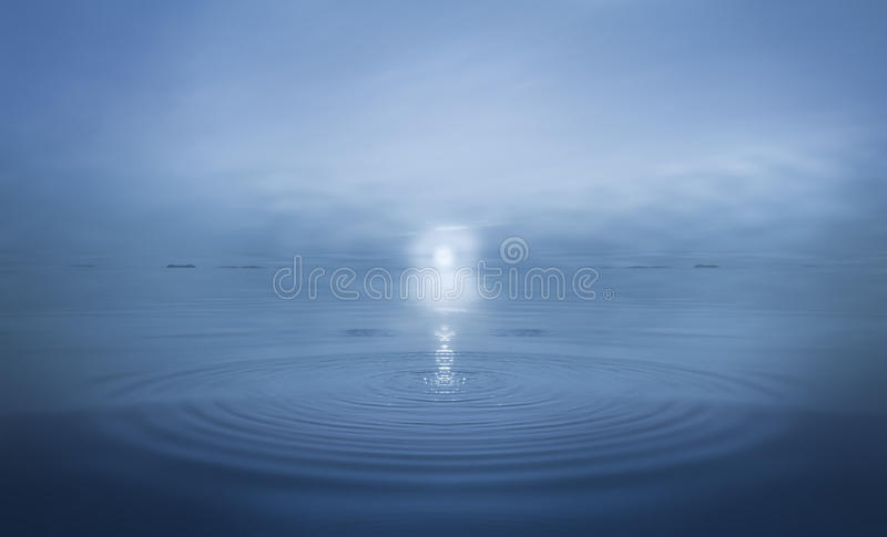 Ripples in Calm Sea Water royalty free stock photography