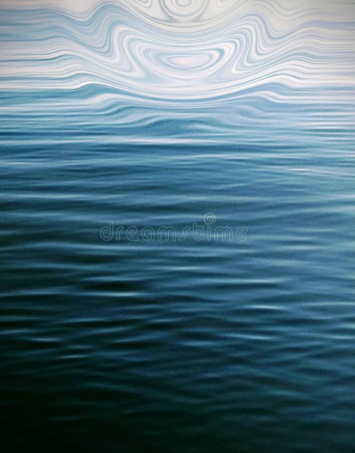 Watch the ripples flow. Ripples flow water blue pattern stock illustration